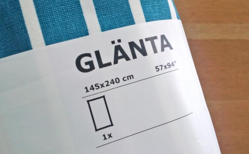 IKEAで、テーブルクロスを買いました。