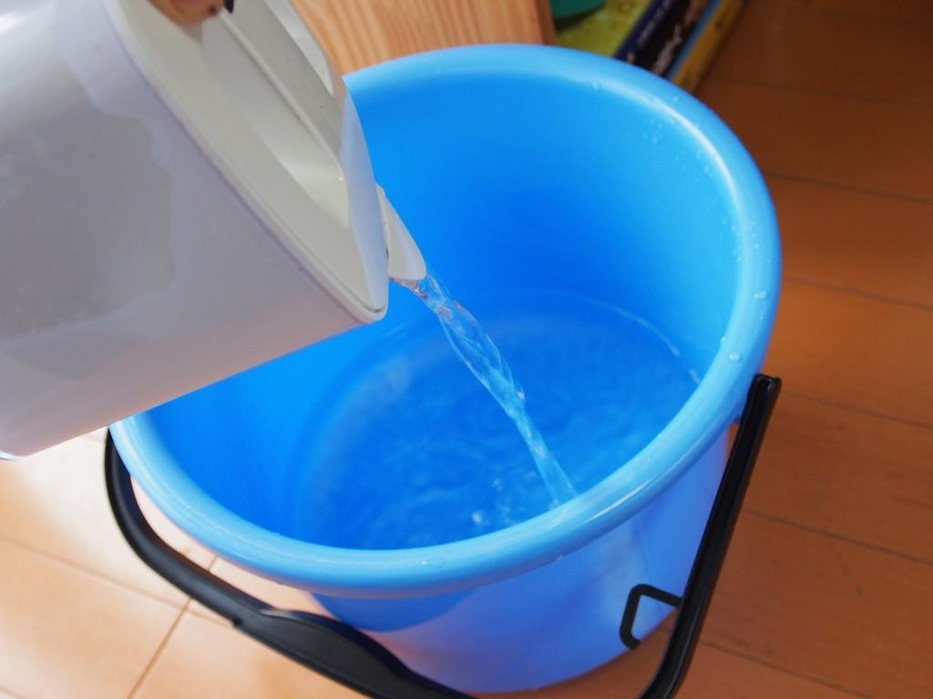 家庭用浄水器でカルキ抜き