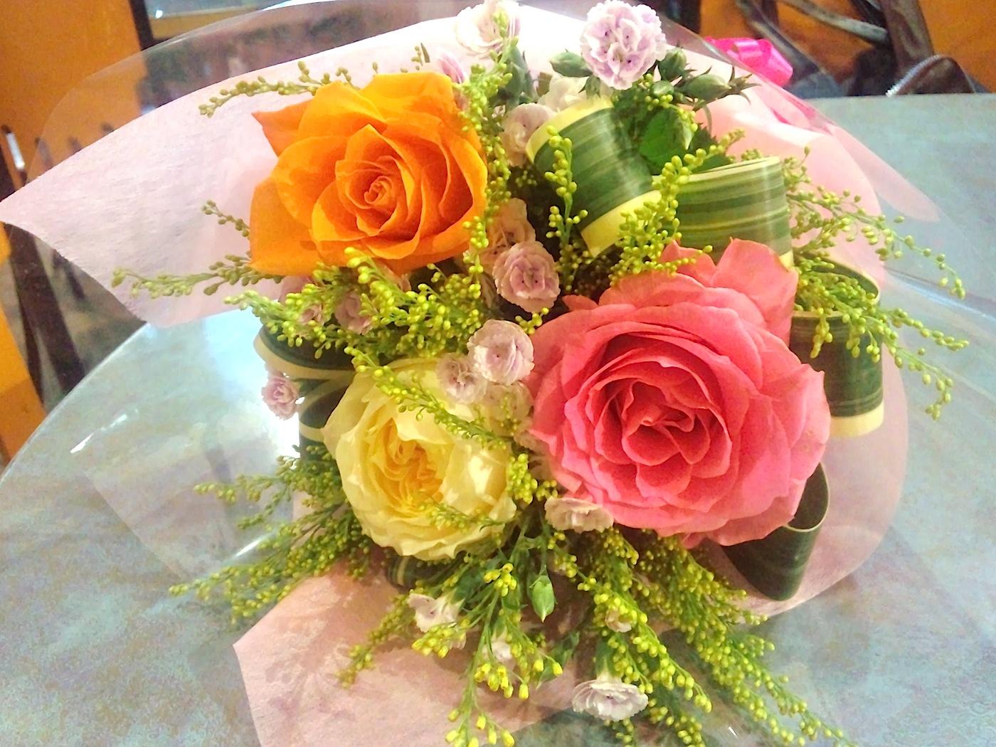 誕生日に花を