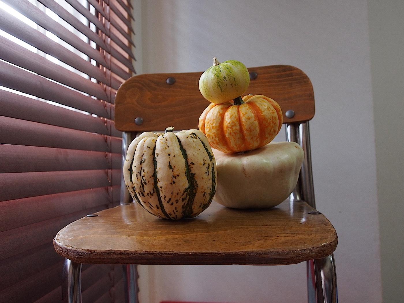 ハロウィンでかぼちゃを飾る
