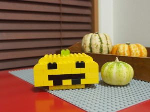 レゴで作ったjack o lantern