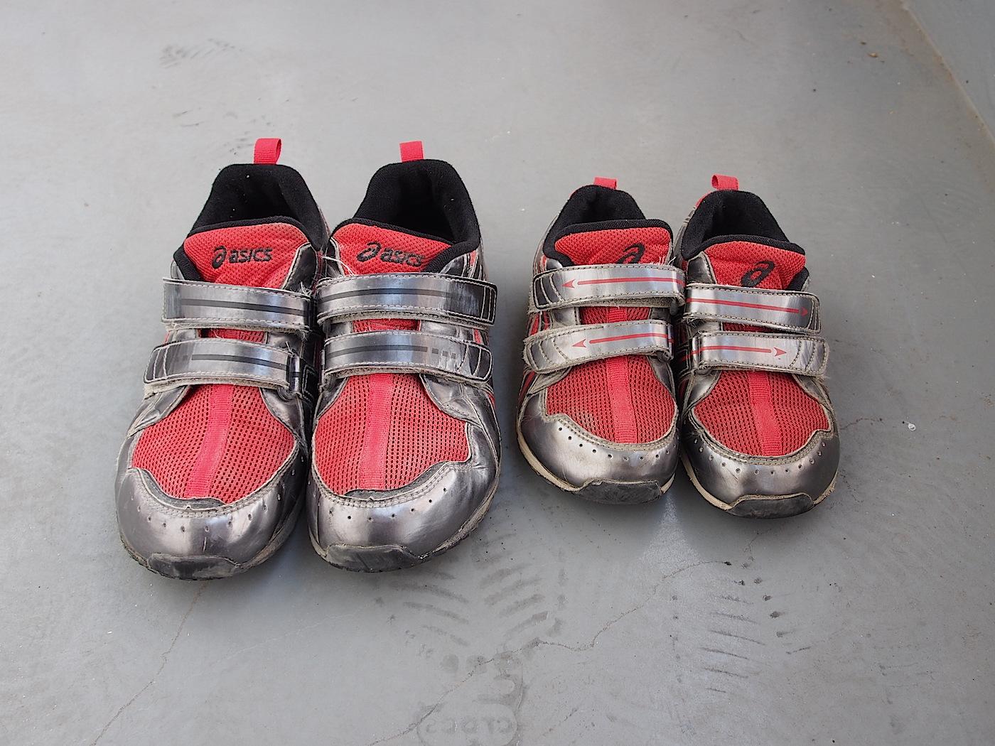 子供の靴の大きさ比較