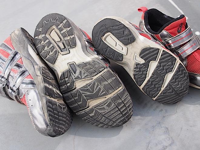 8歳と6歳の靴底