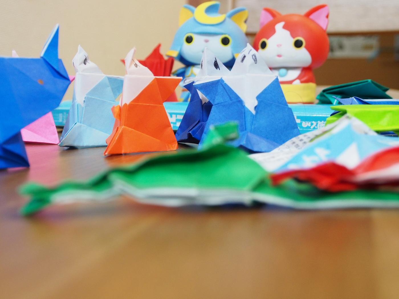 折り紙たちの集合