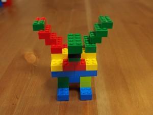 基本ブロックで作るドラゴン、前から