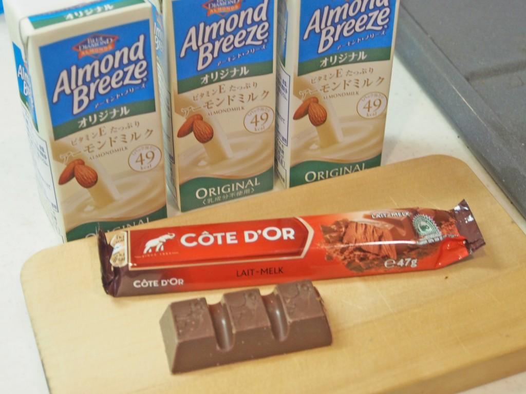 アーモンドミルクとチョコレート