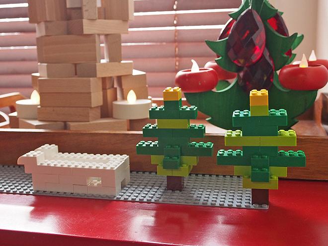 レゴ、サンタさんのそり(予定)ともみの木