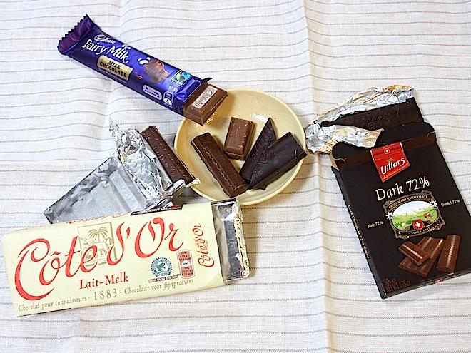 比較したチョコは3つ