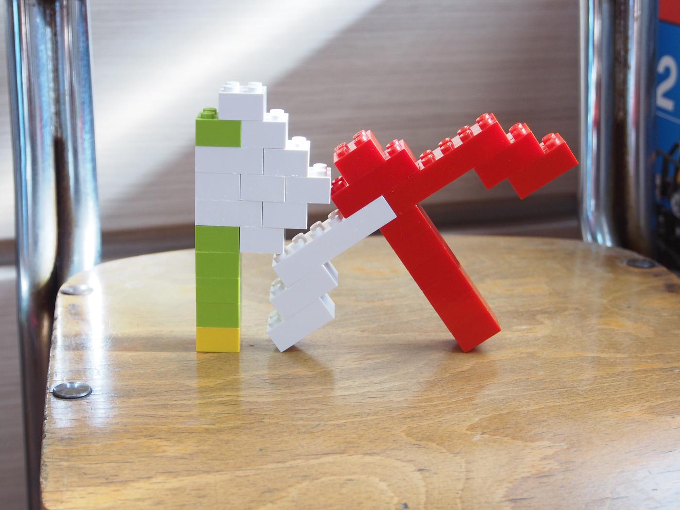 レゴ、斧と弓
