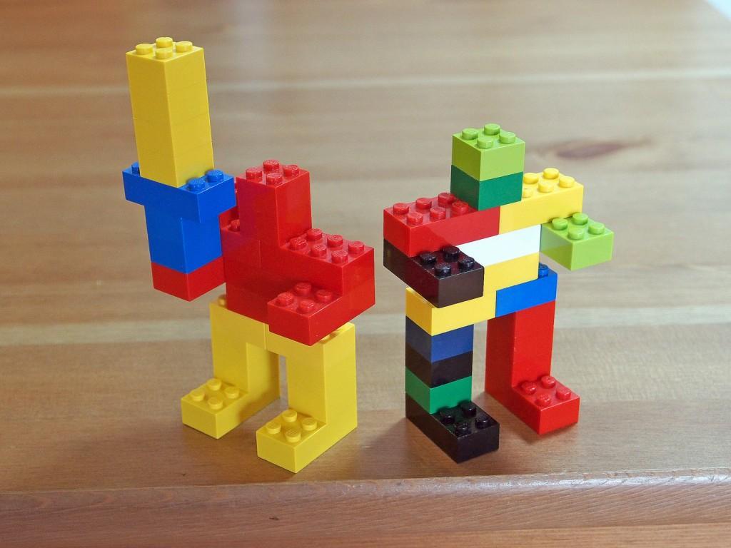 レゴの簡単ロボット、武器もち