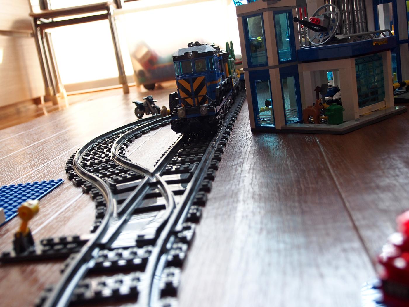 線路が走る街