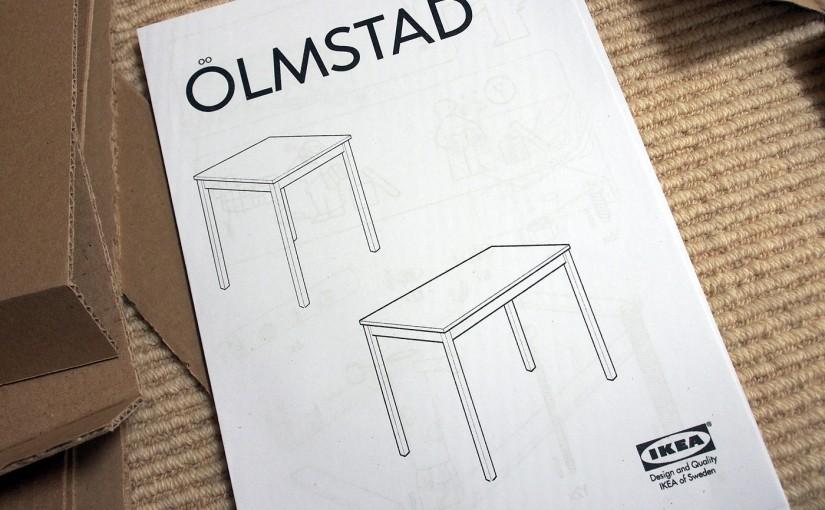 [IKEA]ÖLMSTAD、シンプルな木のテーブルを組み立てたーその1