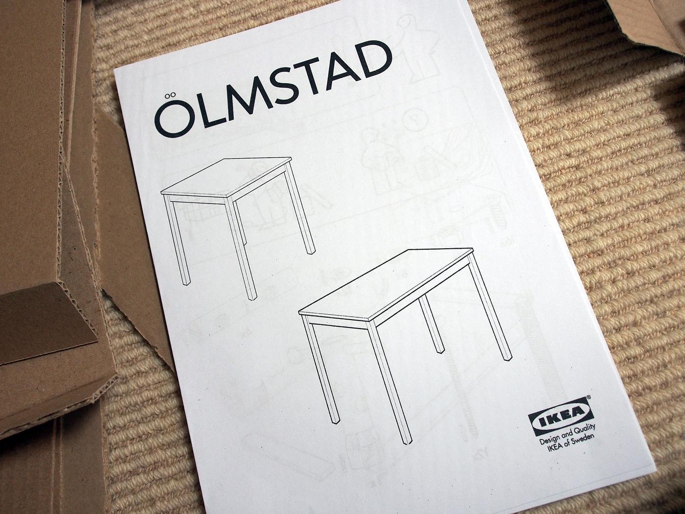 ÖLMSTAD、テーブル、組み立て説明書