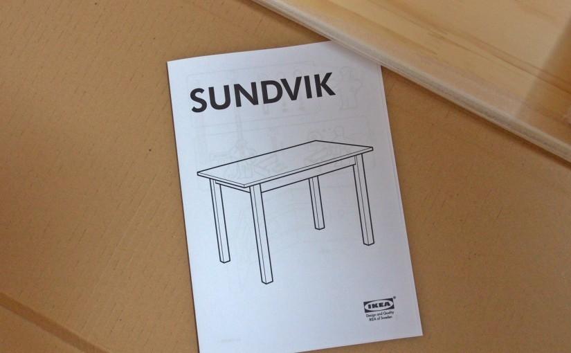 [IKEA]SUNDVIK、小さな木のテーブルを組み立ててみた