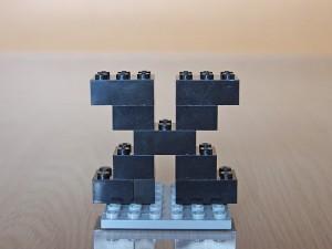 レゴでアルファベット、X