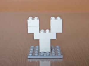 レゴでアルファベット、Y