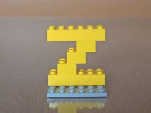 レゴでアルファベット、Z