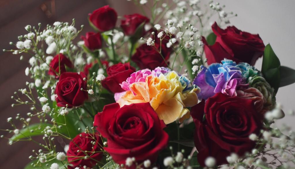花束、オールドレンズで