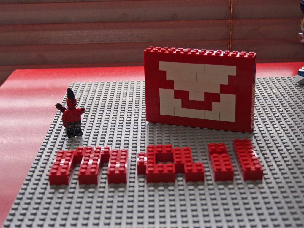 mail、レゴで作った文字2