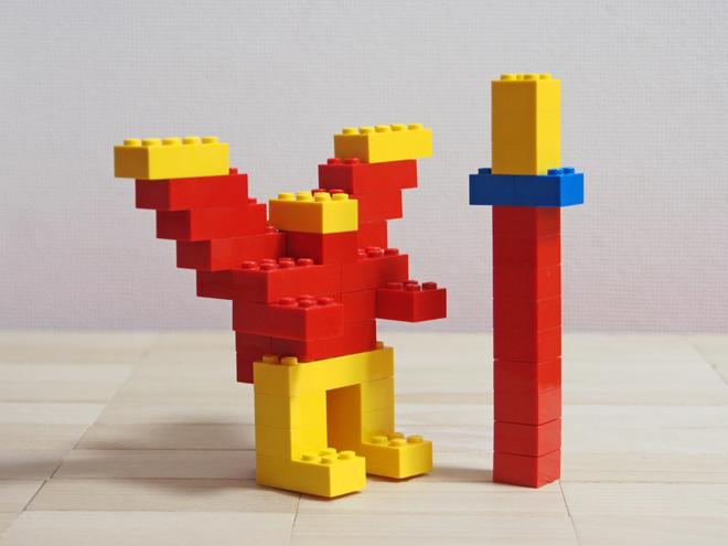 槍と翼のあるロボット