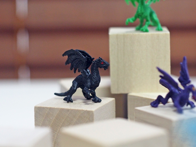 小さなドラゴン、黒