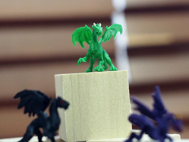 小さなドラゴン、緑