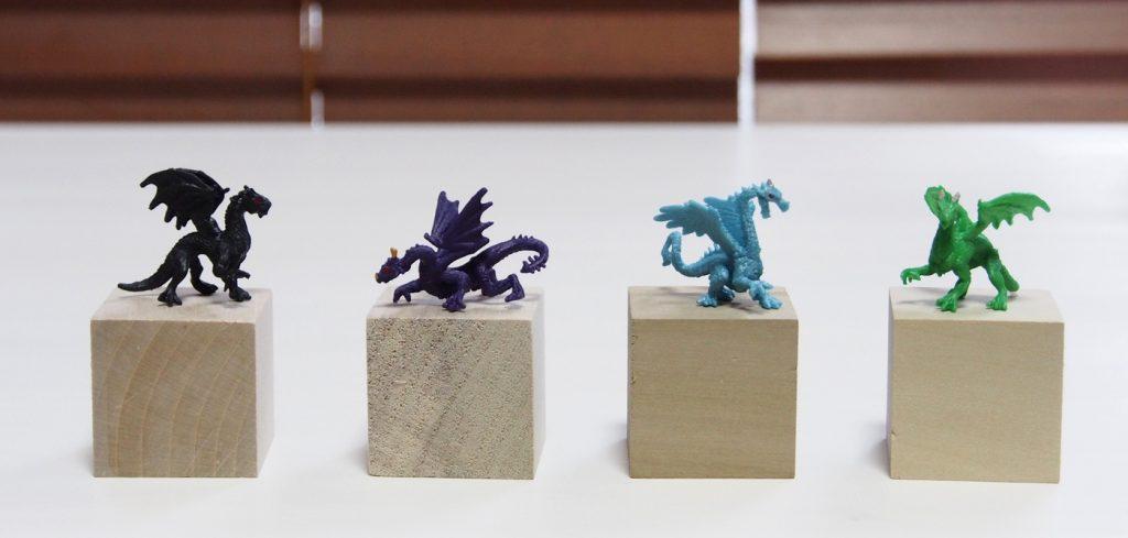 小さなドラゴン、4種類
