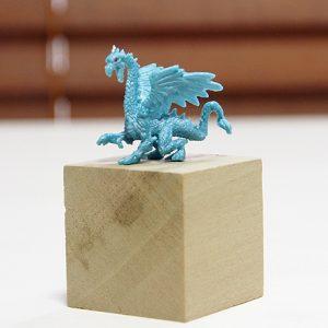 小さなドラゴン、水色、左向き
