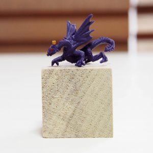 小さなドラゴン、紫、左向き