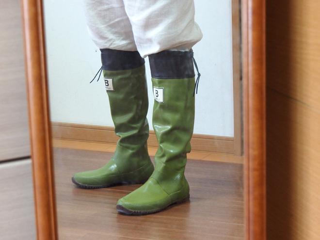 バードウォッチング長靴、横から