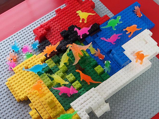 恐竜の楽園、上から