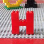 レゴ、アルファベット、H