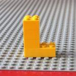 レゴ、アルファベット、L、黄