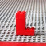 レゴ、アルファベット、L、赤