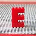 レゴ、アルファベット、E、赤