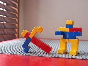 弓とロボット
