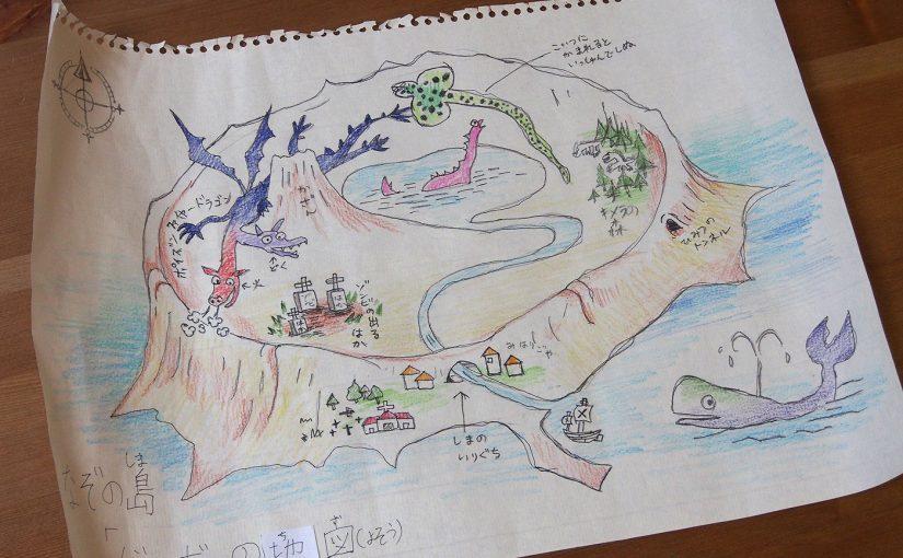謎の島の地図