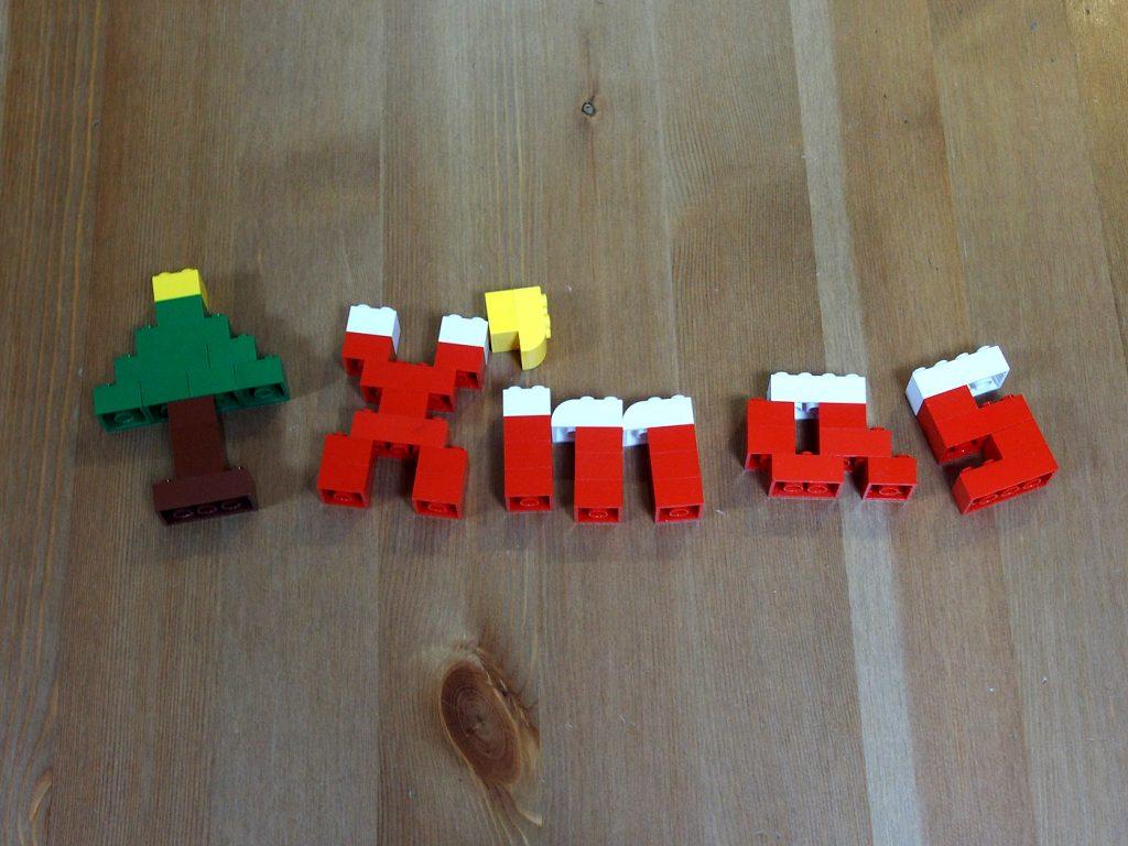 レゴでアルファベット、X'mas