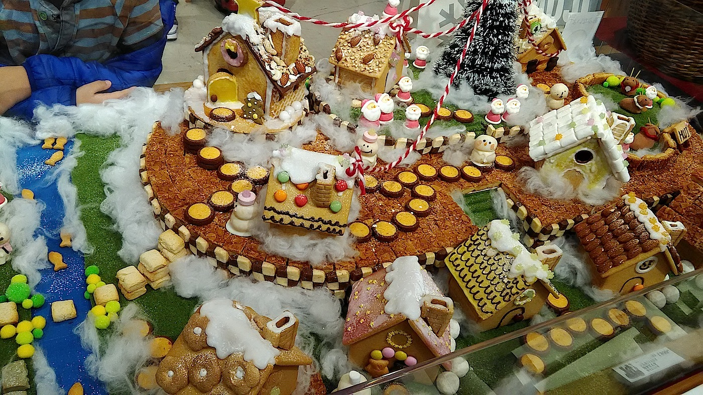 無印のお菓子の家、展示