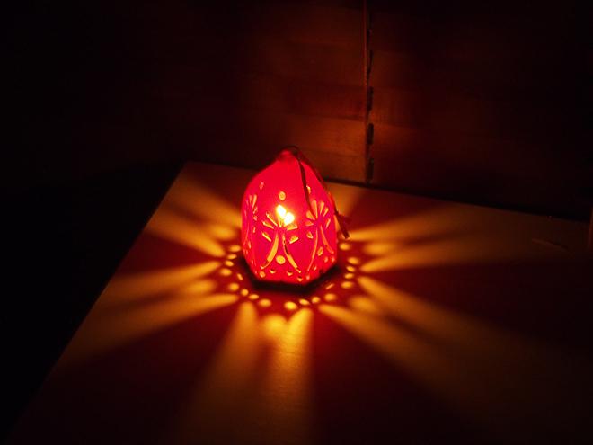 オールドレンズ、ledランプ、光の模様