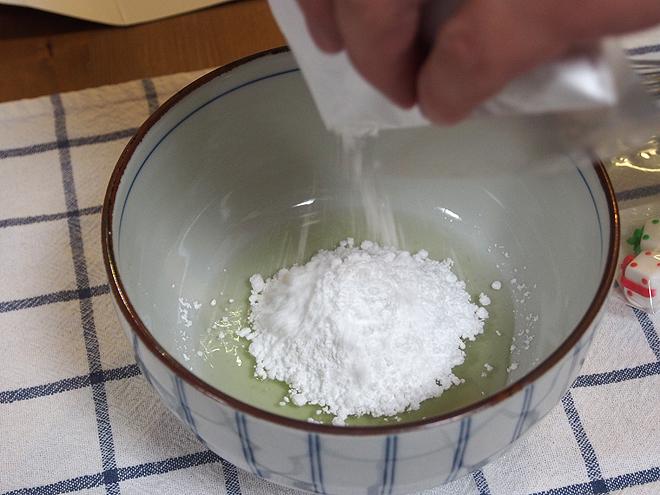 アイシング、卵白と粉