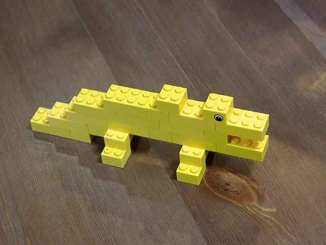レゴ、ワニ