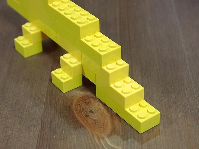 レゴ、ワニ、しっぽ