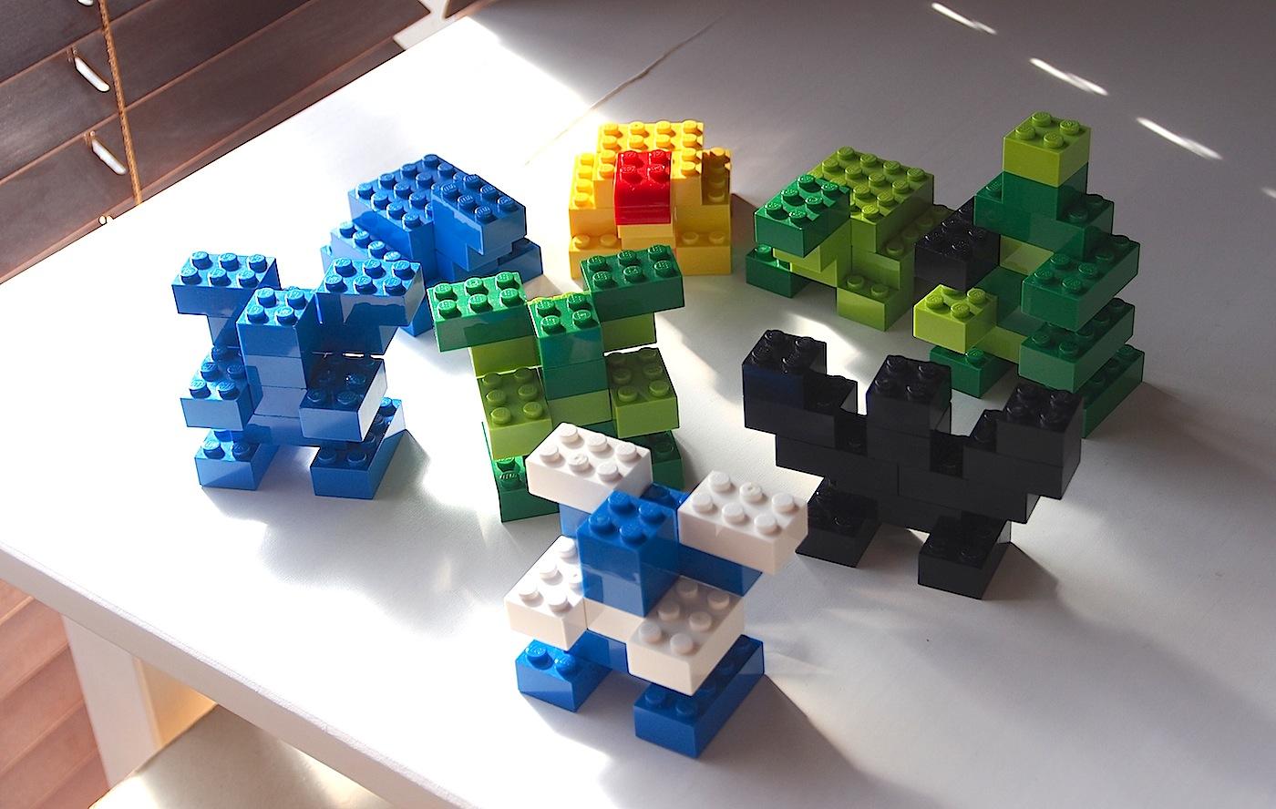 簡単レゴ、ゴブリン、コウモリ