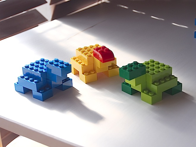 簡単なレゴ作品、亀