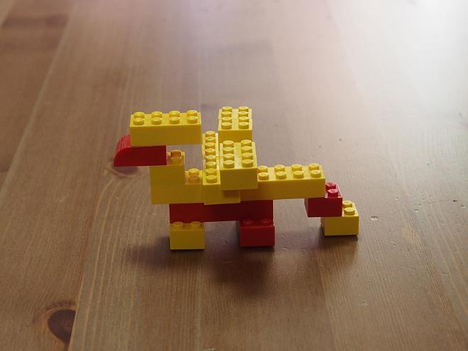 子供グリフォン、レゴ(黄)