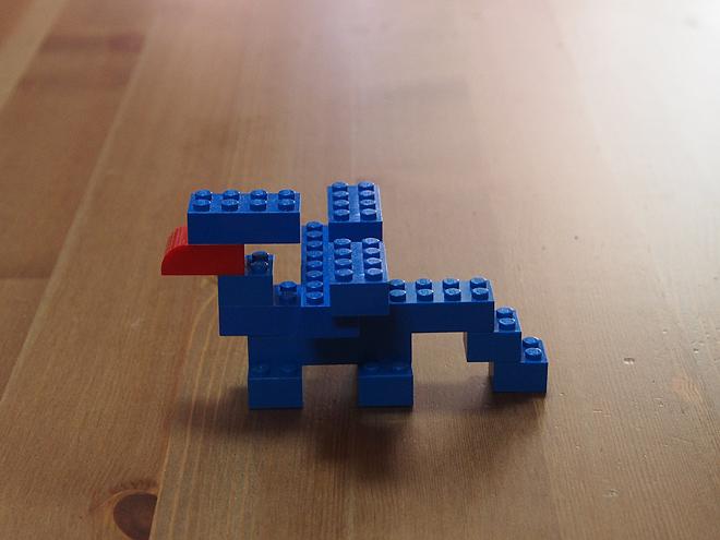 子供グリフォン、レゴ(青)