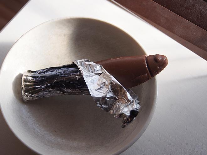 フィカー、チョコサーディン缶、中身