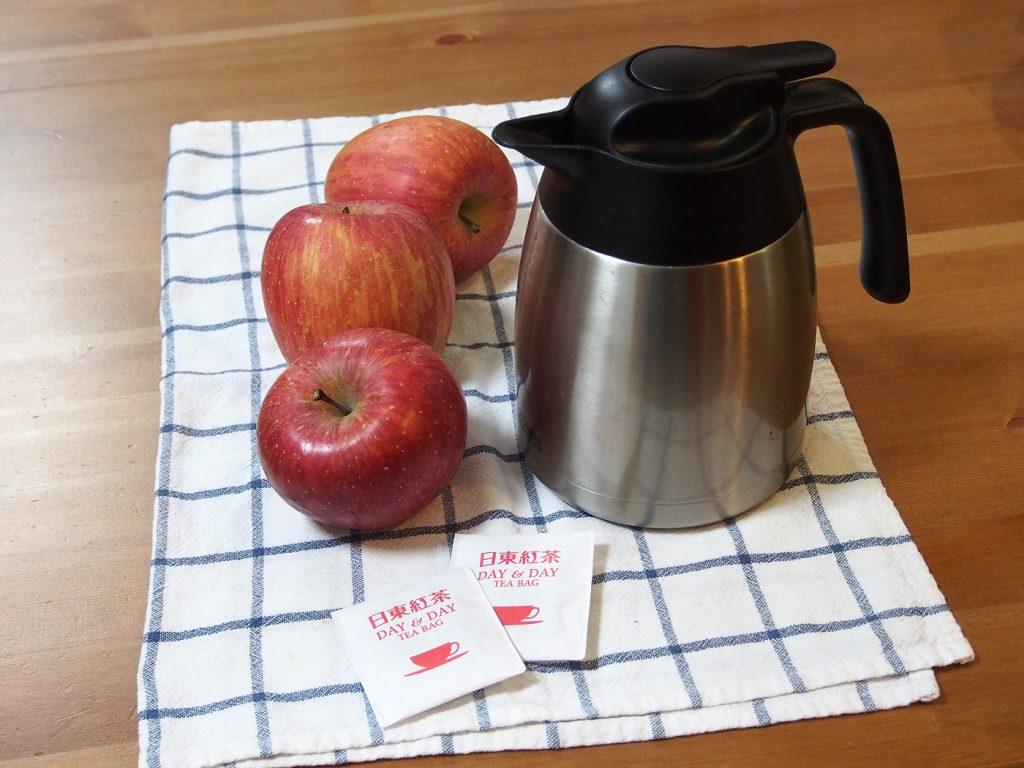紅茶にリンゴ