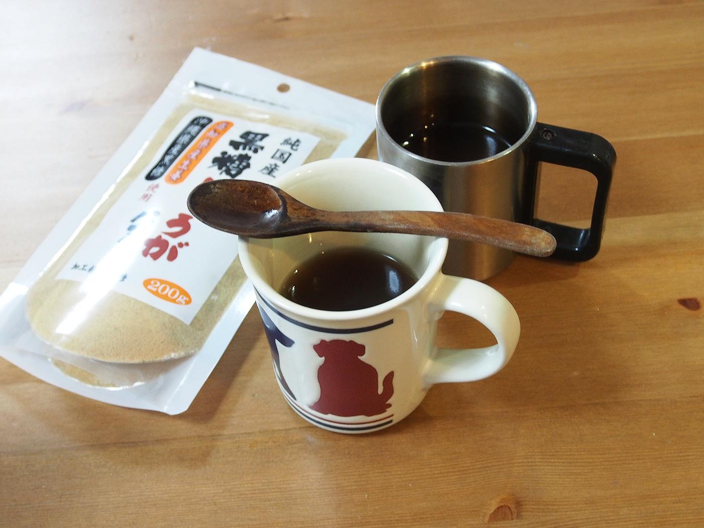 生姜パウダーと紅茶